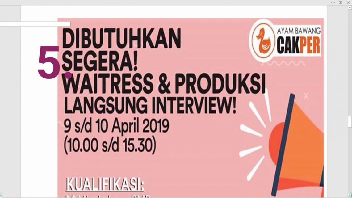 7 Lowongan Kerja Terbaru 8 April 2019 Area Sidoarjo Okuta
