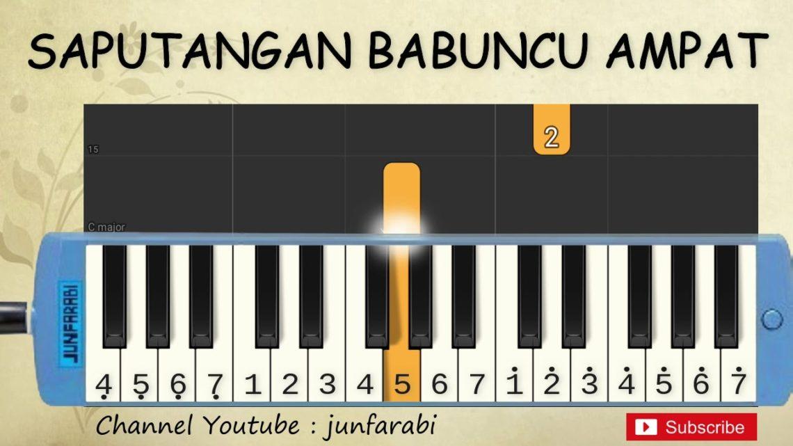 Not Pianika Saputangan Babuncu Ampat Lagu Daerah Belajar Pianika Not Angka Okuta Marketing Blog