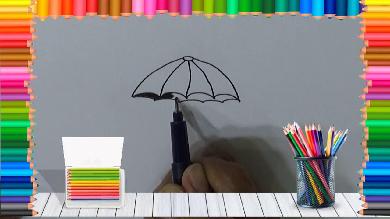 Belajar Cara Menggambar Payung – Okuta Marketing Blog