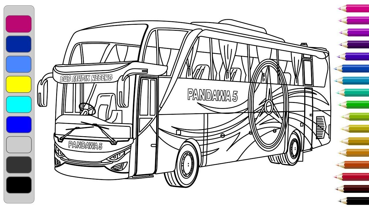Belajar Menggambar Dan Mewarnai Bus – Learn To Draw And