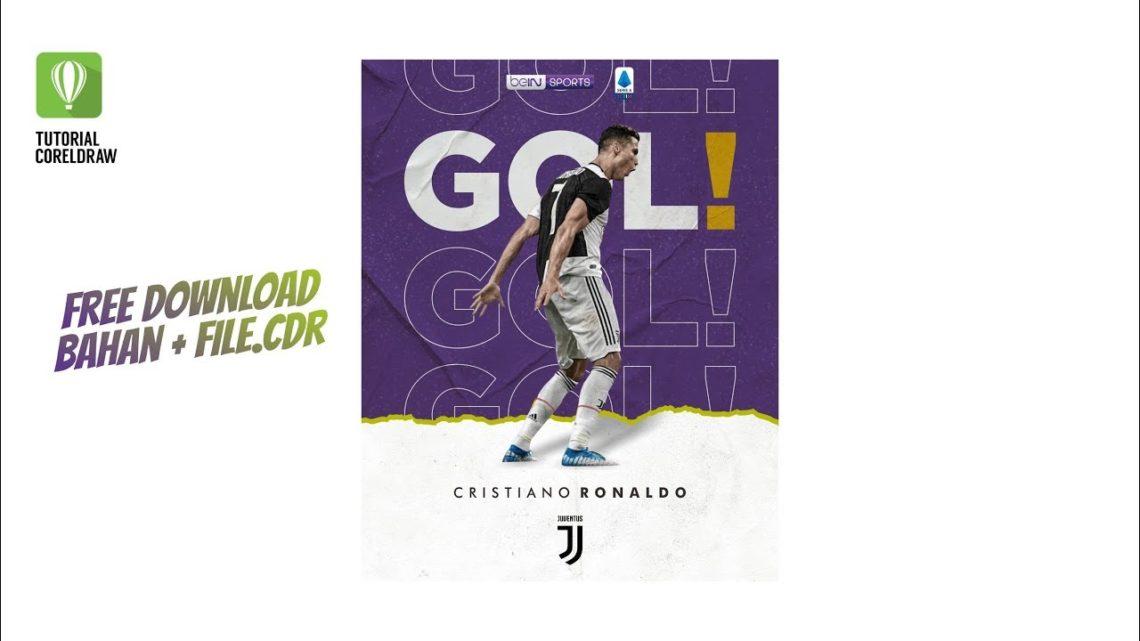 Cara Membuat Desain Poster Di Coreldraw Ronaldo Juventus Tutorial Coreldraw Blog Okuta